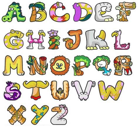 free printable animal fonts dd animal alphabet embroidery font annthegran