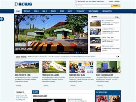 template joomla software sj news free joomla magazine template