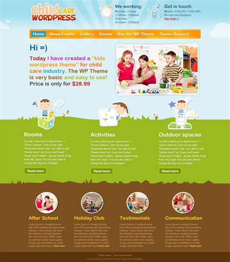 wordpress themes children s book 10 awesome wordpress themes for child care industry