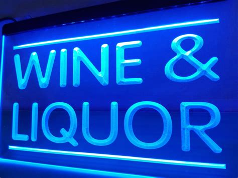 liquor signs lb405 wine and liquor store led neon light sign home decor