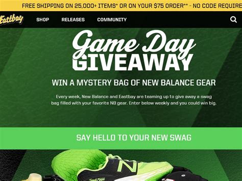Instant Win Game Sweepstakes Official Rules - eastbay game day giveaway sweepstakes