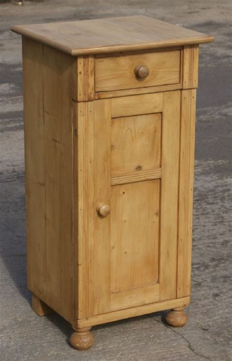 tall bedside cabinets a fine antique solid pine dutch tall bedside cabinet