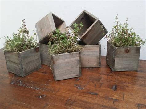 reduced reclaimed wooden planter boxes rustic wooden