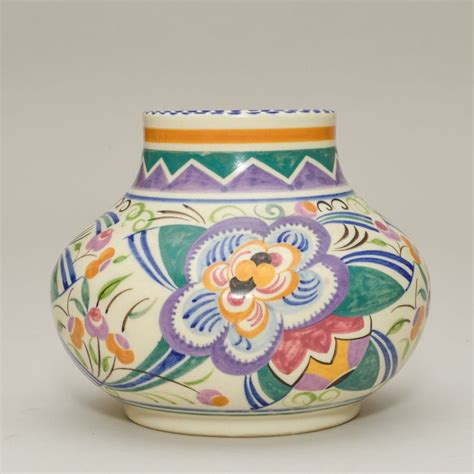 Poole Vase by Stabler Poole Pottery Vase Flowers 1930s