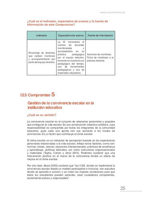 clima escolar primaria minedu 2016 minedu compromisos en gesti 243 n escolar 2016 88 pag