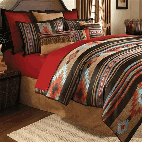 native american comforters red river southwestern bedding collection