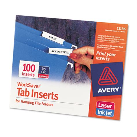 ave11136 avery printable inserts for hanging file folders