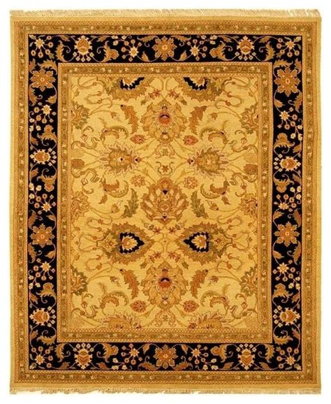 gold and black rug light gold and black border rug 4 ft x 6 ft traditional area rugs by ivgstores