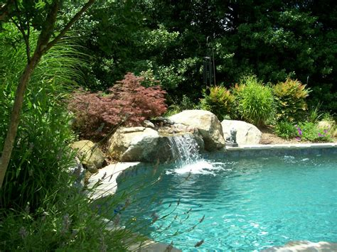 pool waterfalls custom inground swimming pools natural pools by cld from