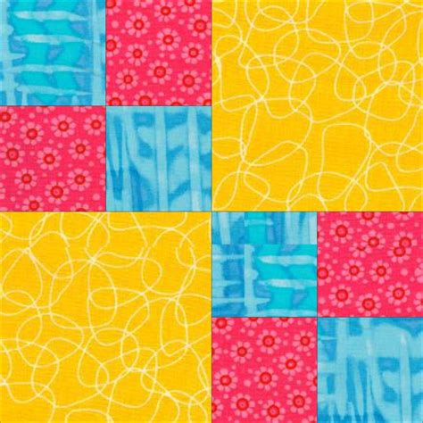 Free Patchwork Blocks - easy quilt patterns pic four patch quilt pattern