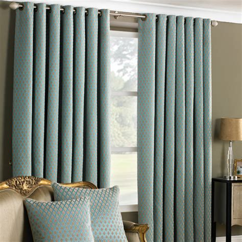 turquoise eyelet curtains de vere chenille jacquard woven lined eyelet curtains