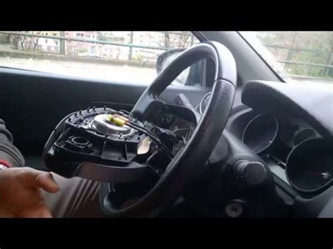volante nissan note nissan note steering wheel horn airbag module removal