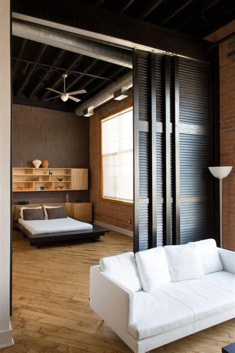 Bedroom Office Divider Studio Room Dividers Bedroom Rustic With Bed Brick Wall