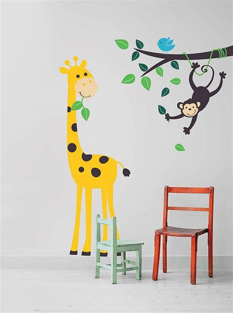 notonthehighstreet wall stickers monkey branch and giraffe wall stickers by parkins interiors notonthehighstreet