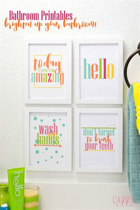 free kids bathroom printables make your bathroom a happier place with these bright
