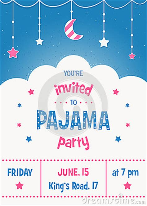 moon invitation card template pajama invitation card template with moon and