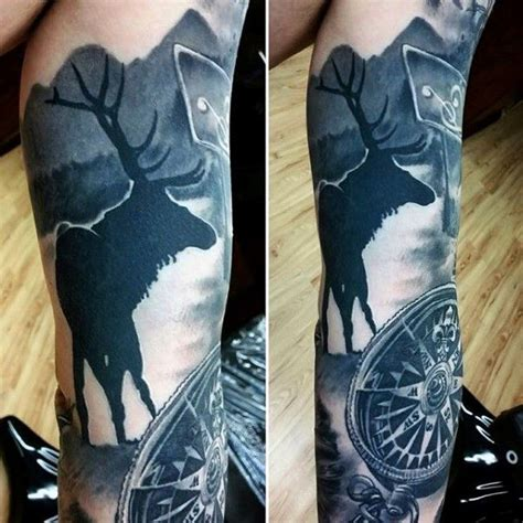 tattoo ideas river 90 deer tattoos for manly outdoor designs