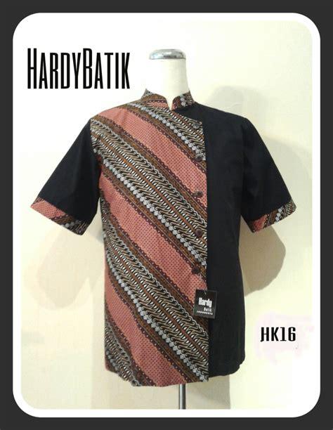 Kemeja Batik Keris Pria Kemeja Pria Batik Kombinasi Hk16 Hardybatik