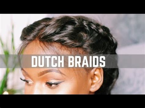 glue in french braids lace frontal sew in installation tutorial detailed st