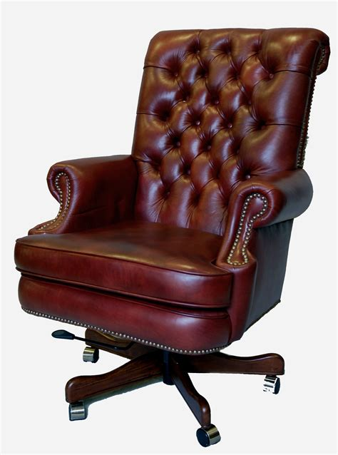 Large Desk Chair by Large Genuine Leather Executive Office Desk Chair Ebay