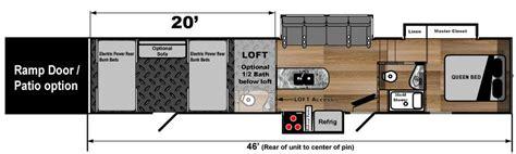 toy hauler with 20 foot garage
