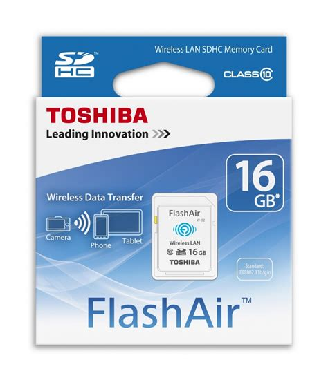 Toshiba Flashair Wireless Sd Card 16gb Class 10 Garan Diskon toshiba flashair 16gb class 10 wireless sd memory card