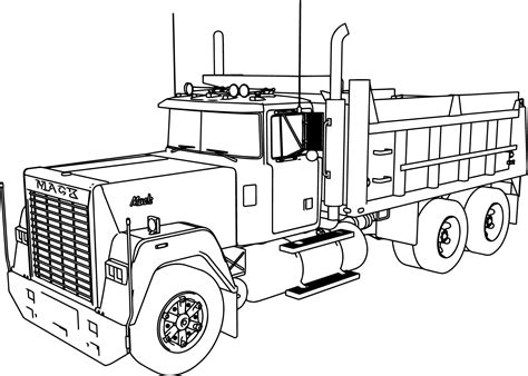 mack dumper truck coloring page wecoloringpage