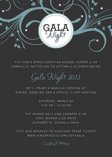 Gala Invitation Sles Gala Invitation Template Free