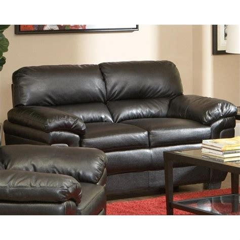 Plush Leather by Coaster Fenmore Casual Ultra Plush Leather Loveseat In