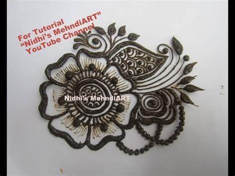 henna tattoo design youtube easy arabic patch henna mehndi design tutorial for