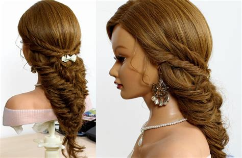 hairstyles for long hair updos with braid easy bridal hairstyle for long hair tutorial fishtail