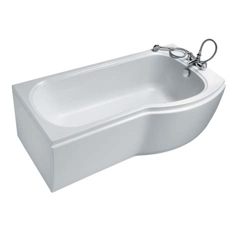 ideal standard alto shower bath buy ideal standard alto contract idealform plus single ended p shaped shower bath right