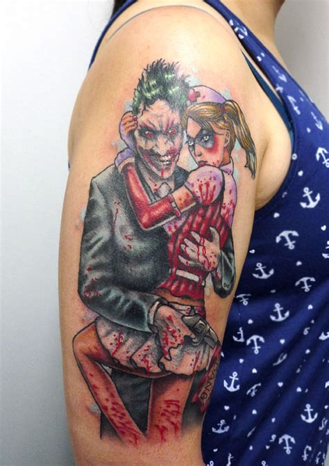 harley quinn tattooing joker joker sleeve designs ideas and meaning tattoos for you
