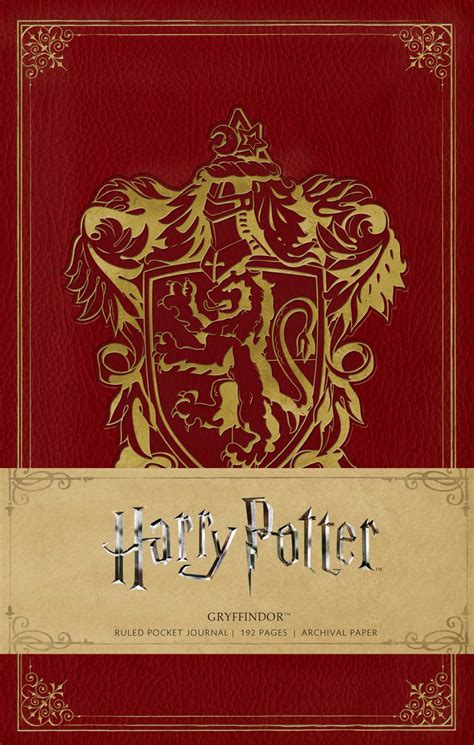 harry potter hogwarts ruled notebook books harry potter gryffindor ruled pocket journal book by