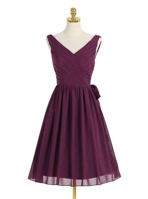 Grape Umbrella Dress a line sweetheart grape chiffon bridesmaid dress ruched dresstells