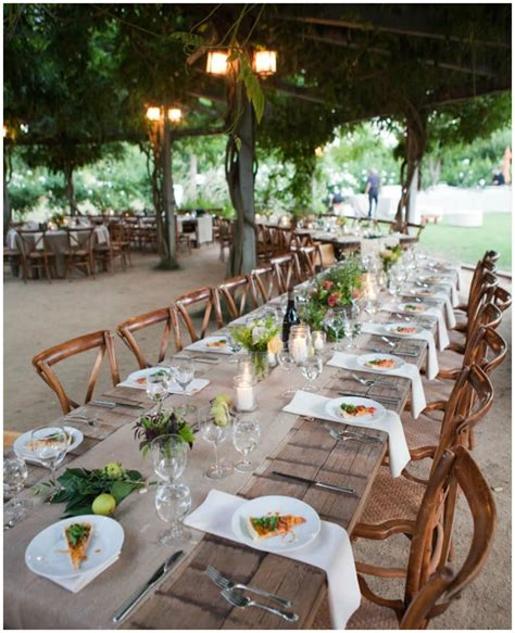 runner on the farmhouse tables wedding ideas