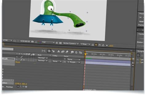 tutorial after effects puppet tool using a wiggle expression on a single position for the
