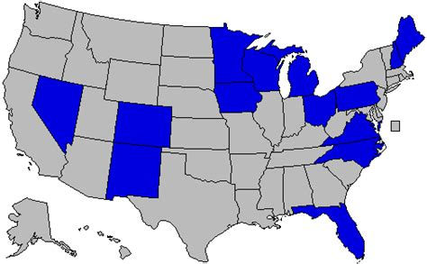 swing states list what was your swing state list