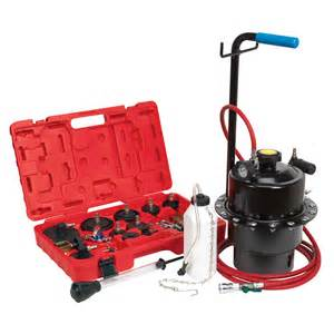 Pressure Brake Bleeding System Sealey Onee Pneumatic Pressure Brake Clutch Bleeding