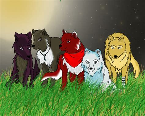anime pack wolf pack drawing anime www pixshark com images