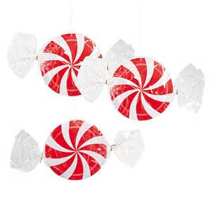 hanging peppermint swirl decorations oriental trading