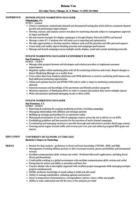 online marketing manager resume | dionysus.fsluidsprekers.tk