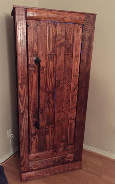 hidden gun cabinet furniture my husbands new gun cabinet he did a great job gun