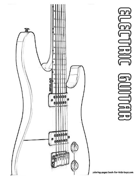 guitar coloring pages pdf classic electric guitar coloring page you can print out