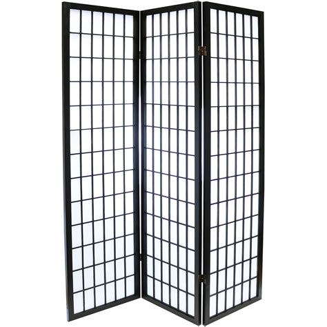 Japanese Room Divider Hartleys Black 3 Panel Japanese Tokyo Room Divider Shoji Privacy Screen Ebay