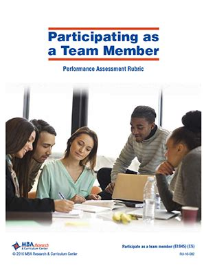 Mba Research Learning Center Login by Mba Research Rubric Participating As A Team Member Ru