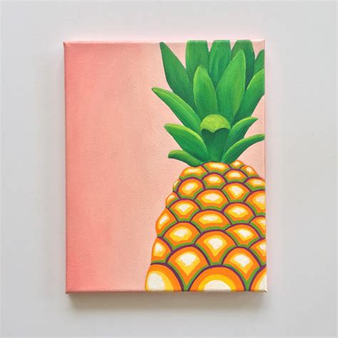 pineapple decor colorful wall tropical pineapple