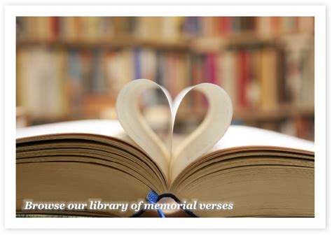 library  memorial  prayer card verses