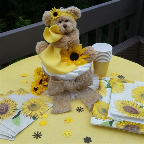 Sunflower baby shower sunflower themed baby shower burlap baby shower decorations set to