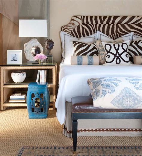 zebra pattern bedroom zebra headboard transitional bedroom ceylon et cie